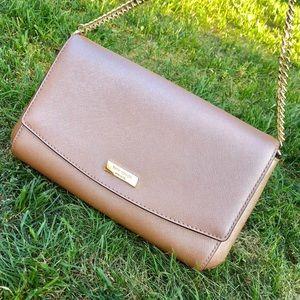 Rose gold clutch or arm bag